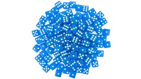 Image of a 16mm Blue Rounded Casino Dice
