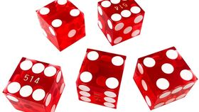 Image of a 19mm Red Square Casino Dice