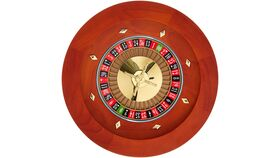 "Image of a 16"" Wood Roulette Casino Wheel"