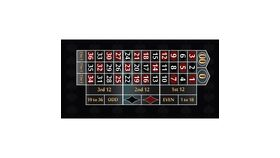 Image of a 12' Black Roulette Casino Game Table Only
