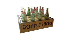Image of a 2' x 2' Bottle Ring Toss Carnival Game