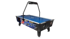 Image of a Commercial Air Hockey Game w/Over Head Score
