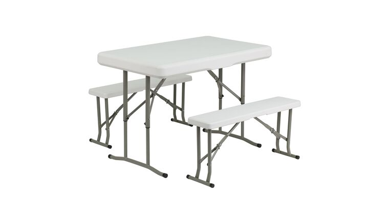 Picture of a 3 Piece Portable Folding Bench & Table Set