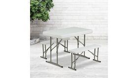 3 Piece Portable Folding Bench & Table Set image