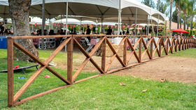 """Image of a 6' x 42"""" Wood Vineyard Fencing"""