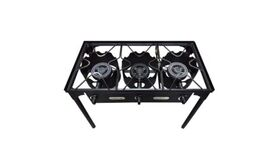 Image of a 3 Burners Propane Outdoor Stove Red Snapper