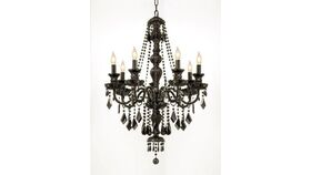 "Image of a 37""H x 26""W New Jet Black Gothic Crystal Chandelier"