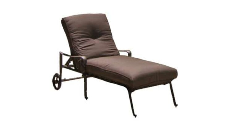 Picture of a Wrought Iron Chaise Lounge