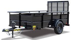 Image of a 5' x 8' Open Box Trailer