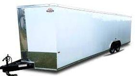Image of a 8' x 28' Haulmark Enclosed Utility Trailer