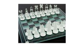 Image of a Glass Chess Set