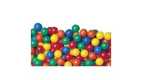 "Image of a 500 pcs Crush-Proof Phthalate Free non-PVC Plastic Ball Pit Balls in 5 Colors - 3.1"" Air-Filled Game"