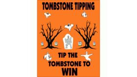 Image of a 24″ x 30″ Tombstone Tipping Toss Game Rental