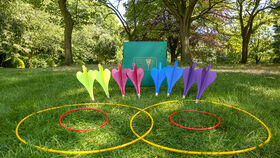 Image of a 4 Player Lawn Darts Game