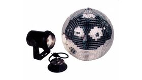 """Image of a 8"""" Disco Mirror Ball With Motor & Pin Spot"""