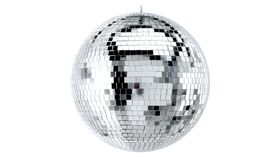 """Image of a 12"""" Disco Mirror Ball Package (Silver)"""