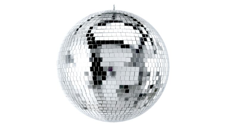 """Picture of a 12"""" Disco Mirror Ball Package (Silver)"""