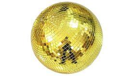 "Image of a 8"" Round Disco Mirror Ball (Gold)"