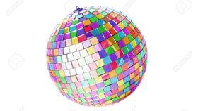 "Image of a 12"" Round Disco Mirror Ball (Multi-Colored)"