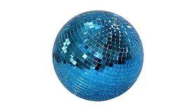 "Image of a 8"" Round Disco Mirror Ball (Blue)"