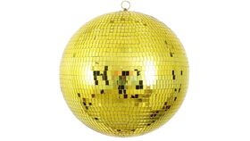 "Image of a 20"" Round Disco Mirror Ball (Gold)"