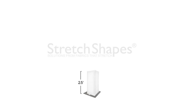 Picture of a 2.5' White Spandex Truss Sleeve Cover