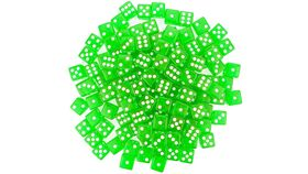 Image of a 16mm Green Rounded Casino Dice
