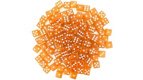 Image of a 16mm Orange Rounded Casino Dice