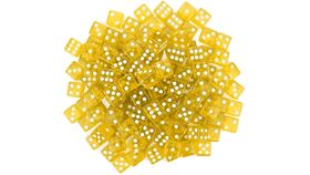 Image of a 16mm Yellow Rounded Casino Dice