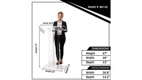 Clear Acrylic Stand Up Floor-Standing Podium, Lectern image