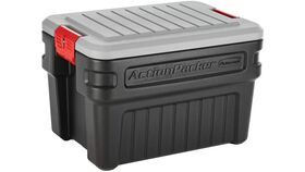 Image of a 24 Gallon Grey & Black Rubbermaid Action Packer Lockable Storage Box Rental