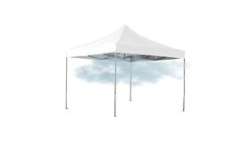 Image of a 10' x 10' White Ez Up Mist Tent Package