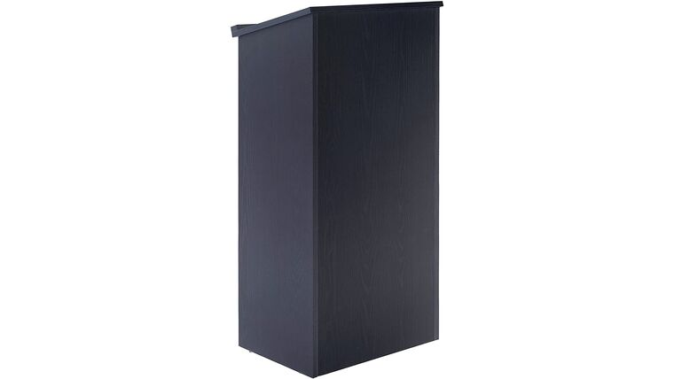 Picture of a Black Wood Podium, Lecturn