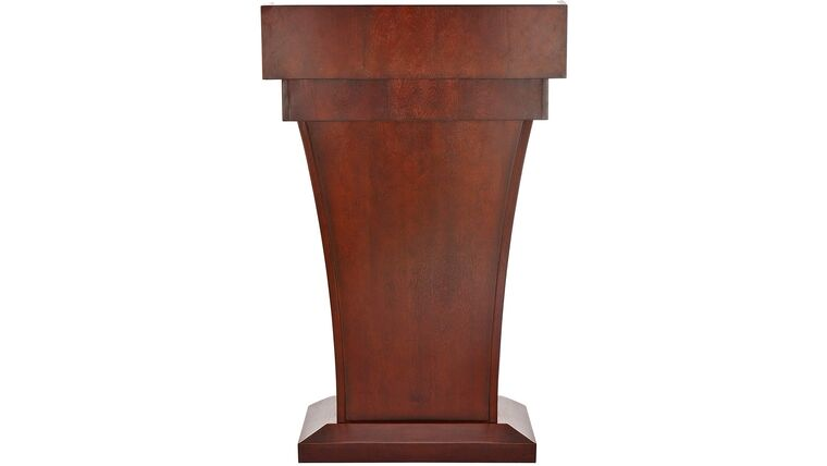 Picture of a Black Cherry Wooden Speaking Lecture, Podium
