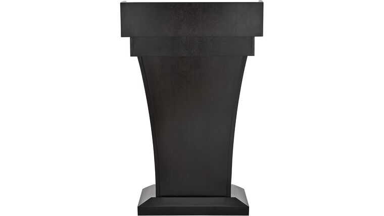 Picture of a Black Wooden Speaking Lecture, Podium