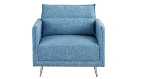 Image of a ANDRES MID CENTURY FABRIC ACCENT CHAIR