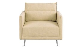 Image of a Beige Andres Mid Century Fabric Accent Chair