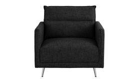 Image of a Accent Chair - Andres Mid Century Fabric - Black