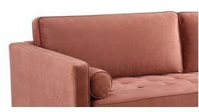 """88"""" Dusty Rose Elle Velvet Fabric Sofa image"""