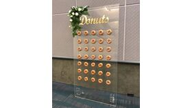 Image of a 8' x 8' Plexiglas Donut Wall