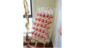 2' x 4' Clear Acrylic Donut Wall image