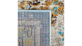 10' x 14' Boho Chic Vintage Distressed Medallion Area Rug, Blue/Light Blue image