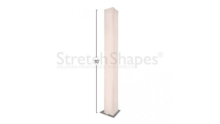 """Picture of a 10' Bone 12"""" Box Spandex Truss Sleeve Cover Rental"""