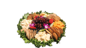Image of a Assorted Meat and Cheese Platter With Dinner Rolls (Medium - Serves 35)