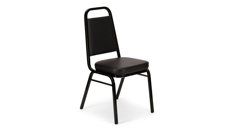 Picture of a Black Metal Banquet Vinyl Chair