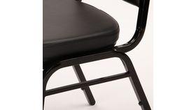 Black Metal Banquet Vinyl Chair image