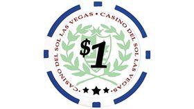 Image of a $1 Blue Poker Chip Rental