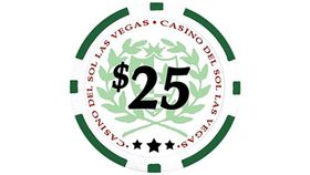Image of a $25 Green Poker Chip Rental