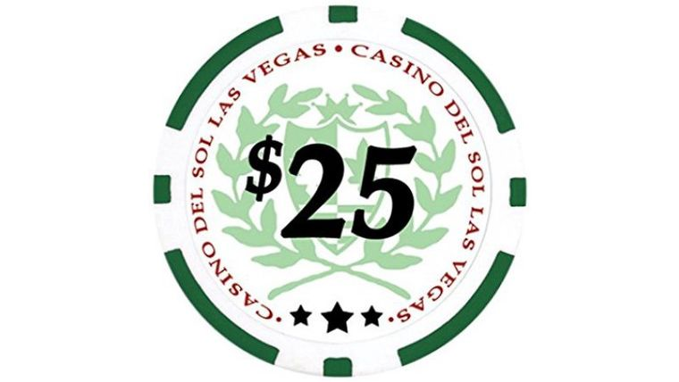 Picture of a $25 Green Poker Chip