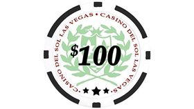 Image of a $100 Black Poker Chip Rental